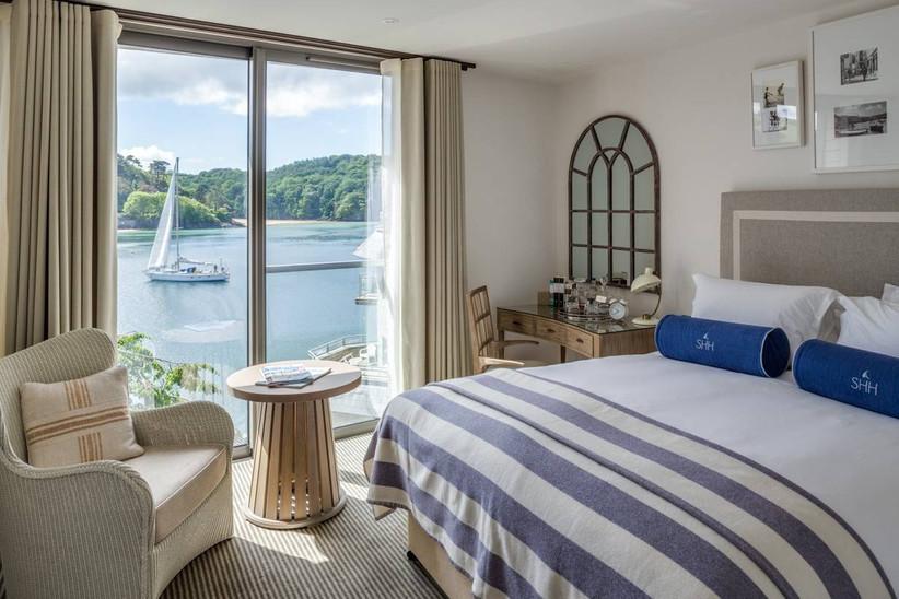 Coastal wedding venue bedroom