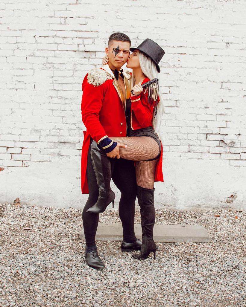 Couples Halloween Costume circus master