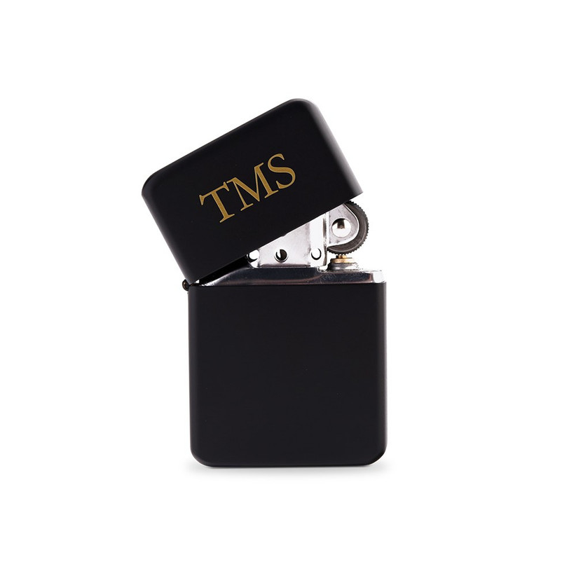 Personalised matte black lighter