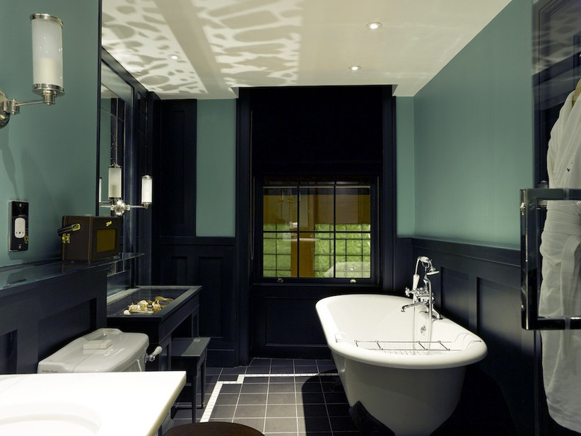 Bathroom of bridal suite at The Zetter Townhouse
