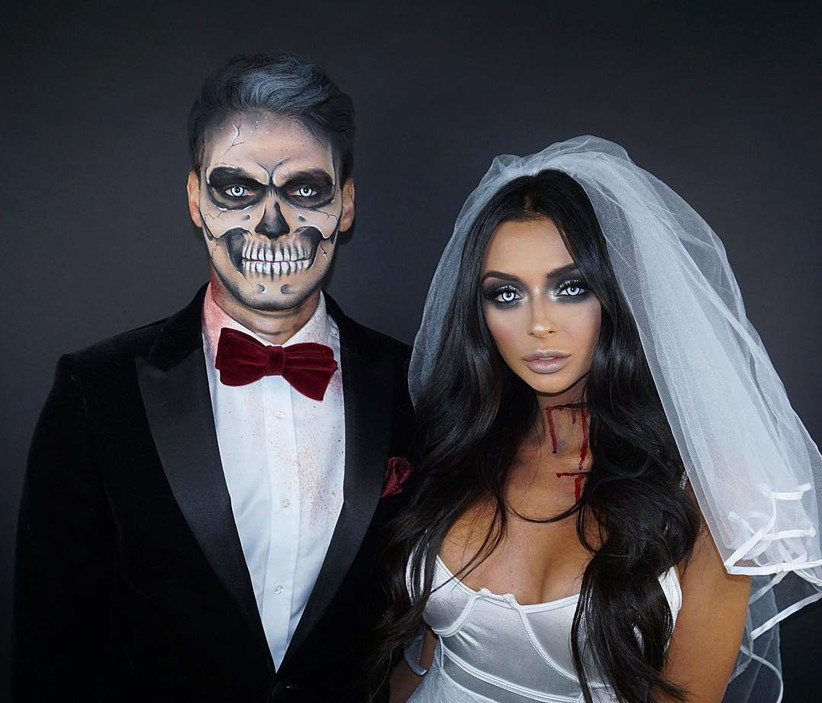 Couples Halloween Costumes bride and groom