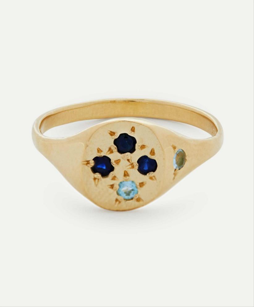 Gold organic sapphire