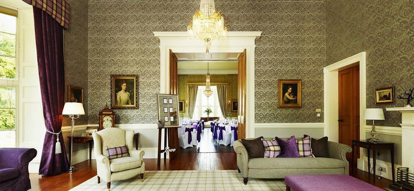 Elegant and grand living area