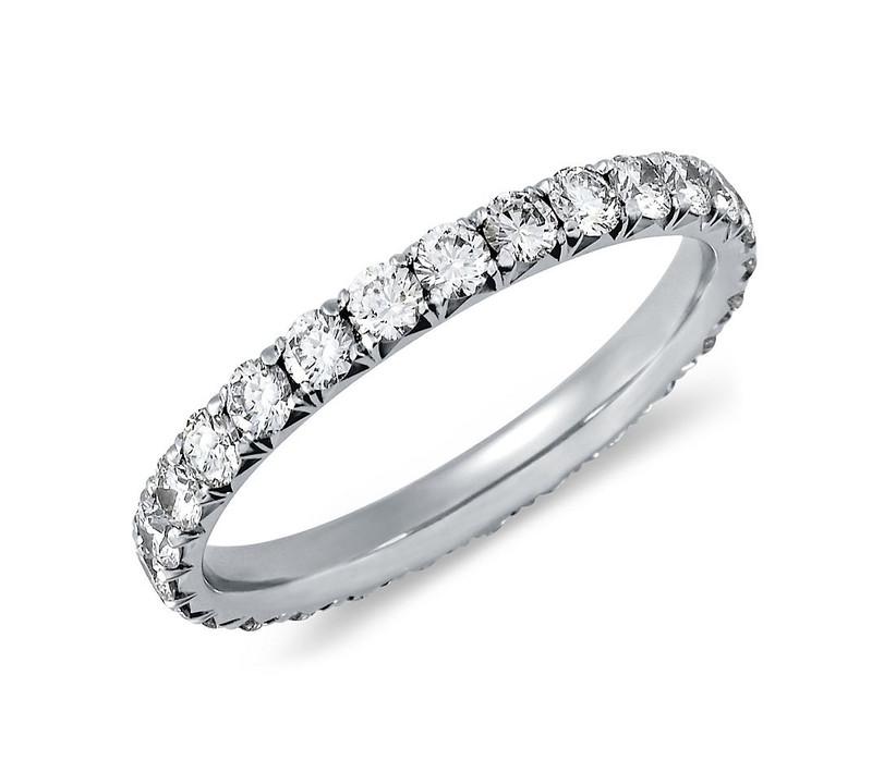 French Pavé Diamond Ring