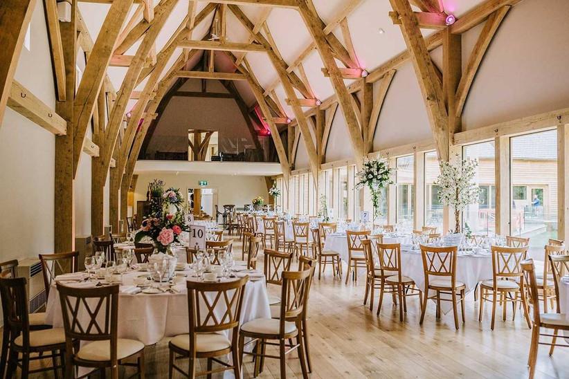 Barn wedding dining room