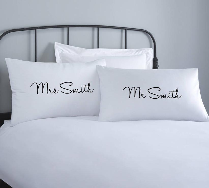 Personalised couple pillows