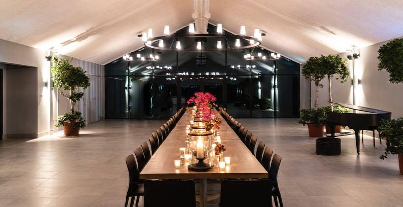 Modern wedding dining area