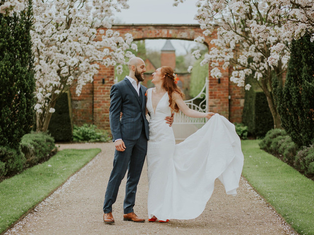 A Tropical, Fireworks-Filled Wedding, with a Pronovias Dress, at Combermere Abbey, Cheshire