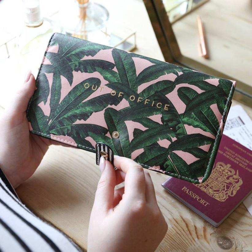 Palm print travel wallet