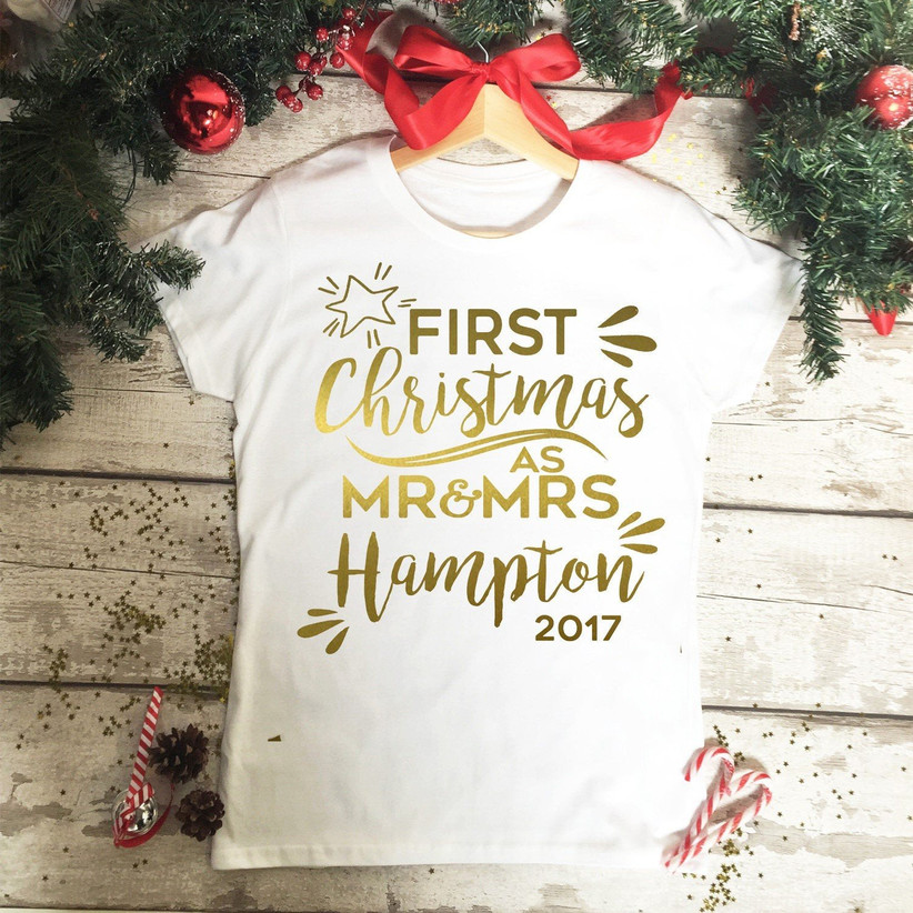 First married Christmas tshirt