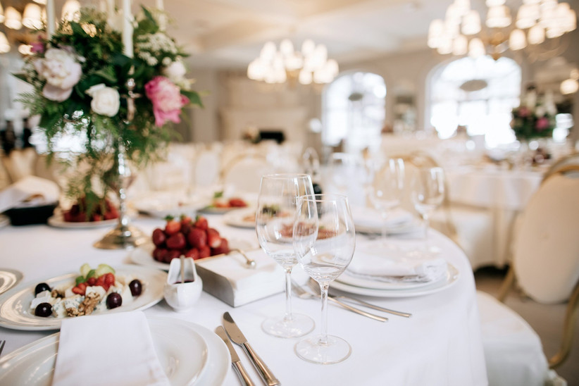 A table at a wedding breakfast