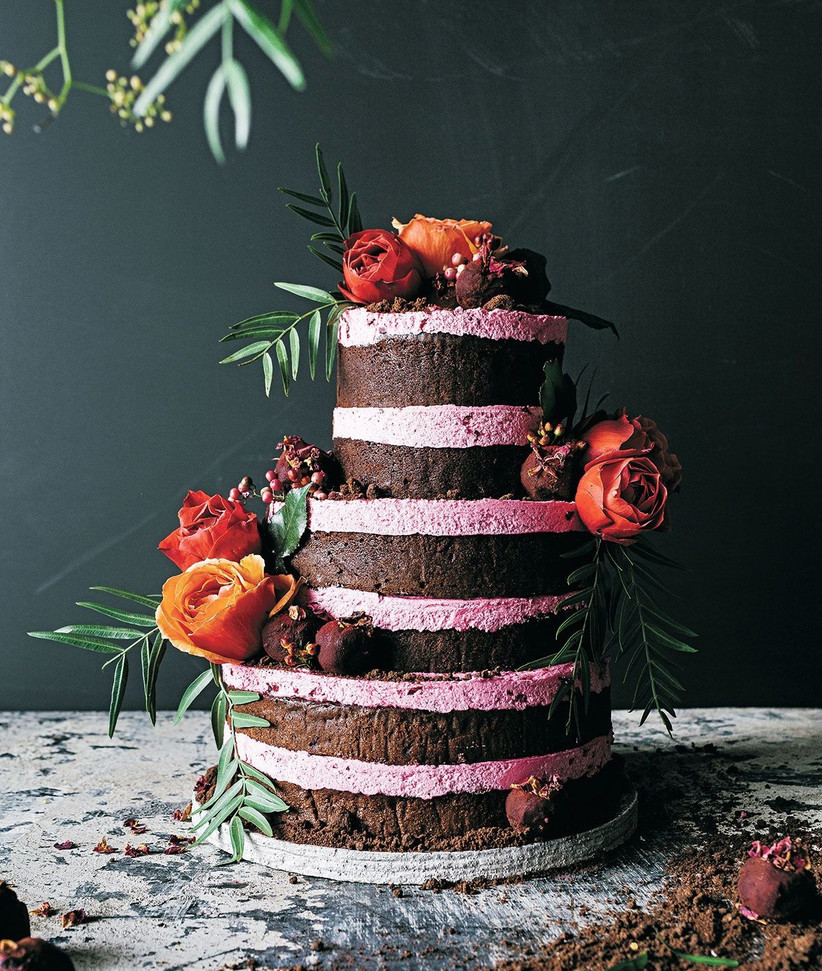 beetroot and rose cake