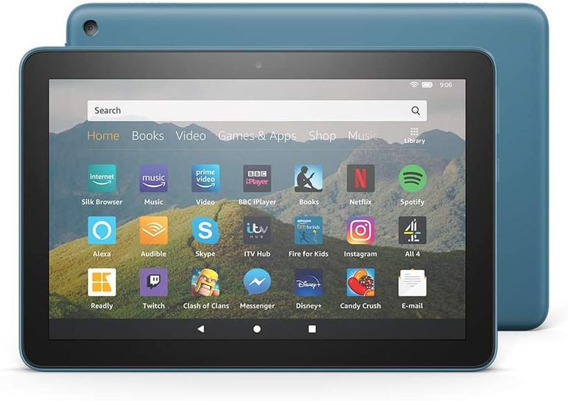 Blue Amazon tablet