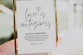 28 Stylish Social Distancing Wedding Signs for Your Big Day