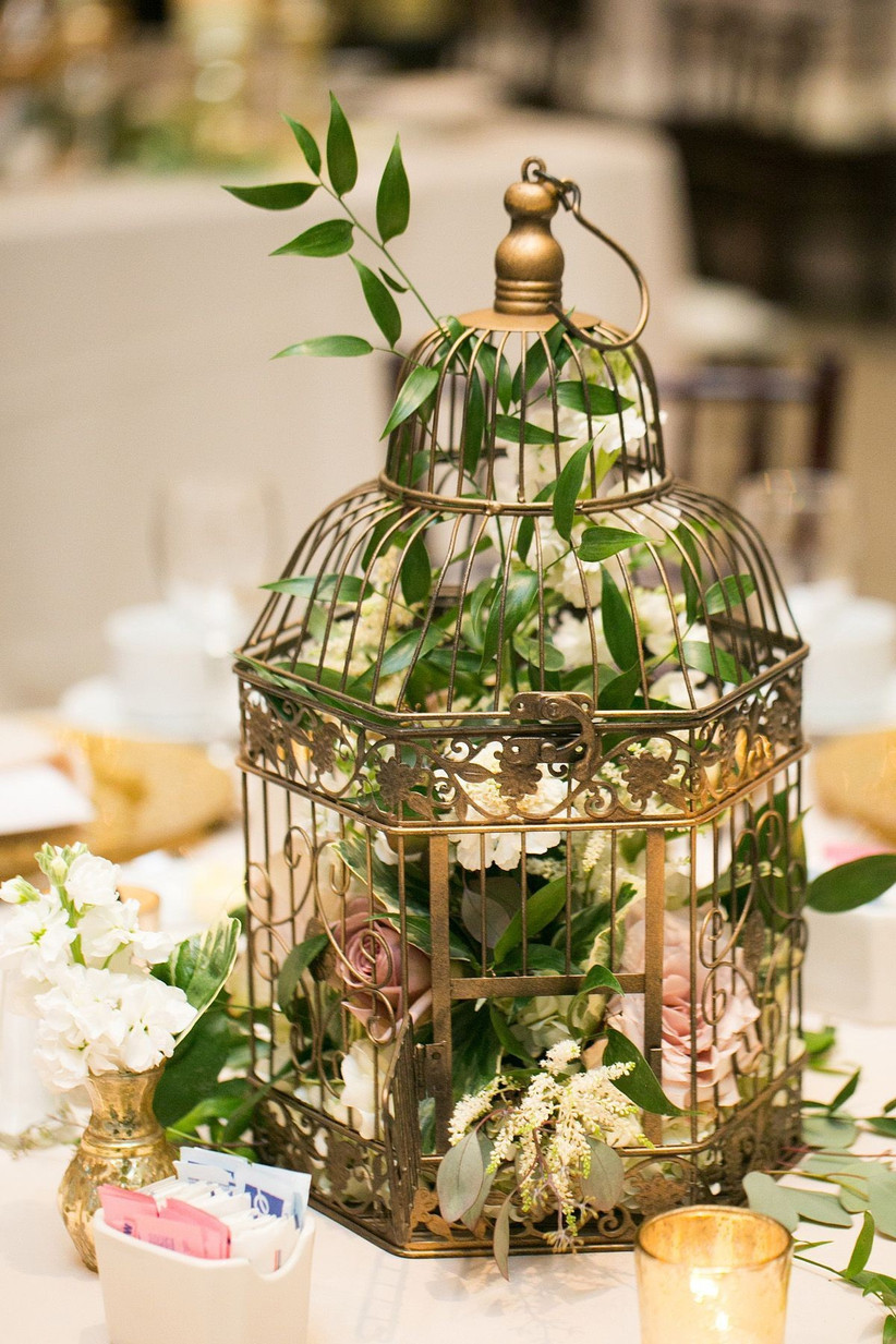 birdcage wedding centrepiece