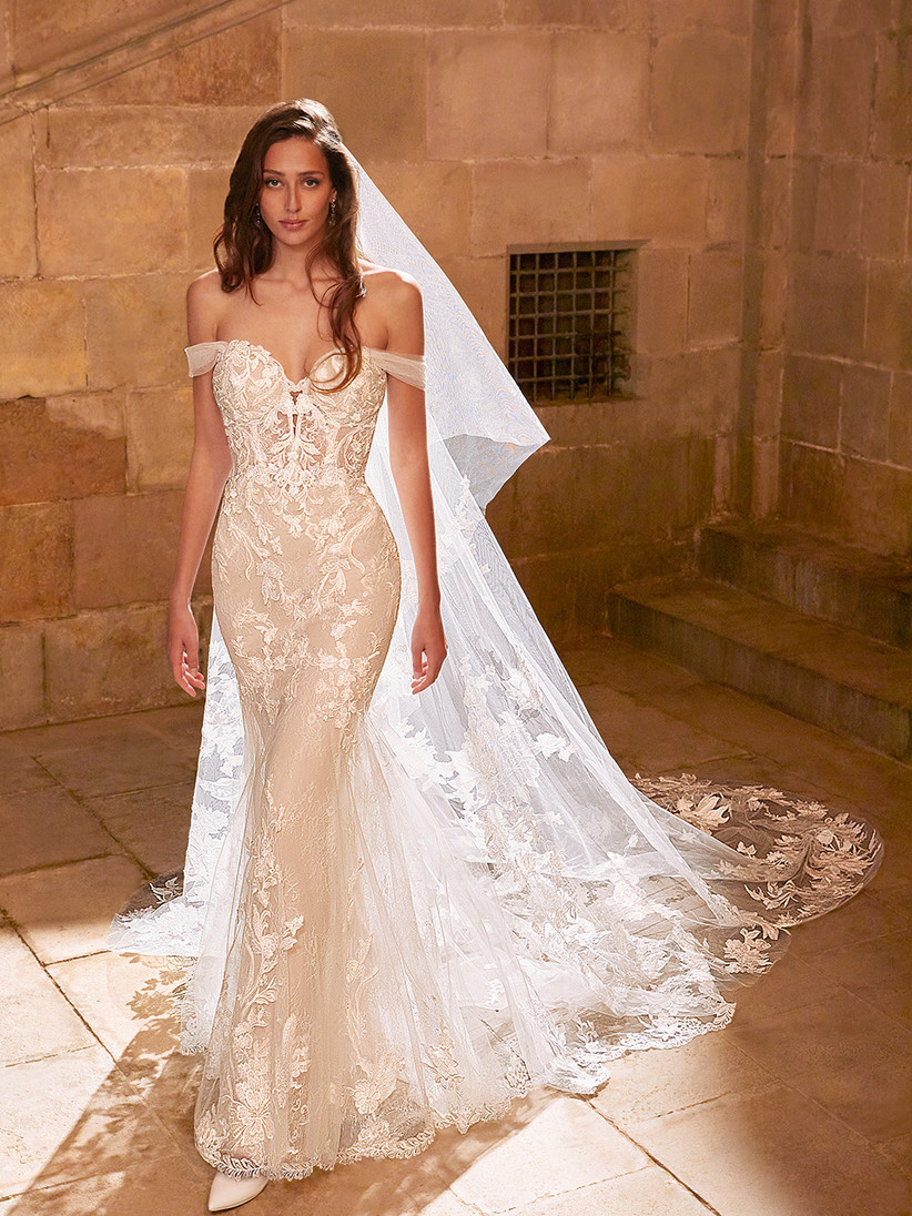 Etoile Evangeline wedding dress from the front