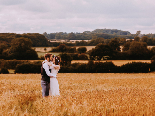 A Boho Tipi Wedding with a Garden Ceremony at the Bride's Family Home + Summer Wild Flowers