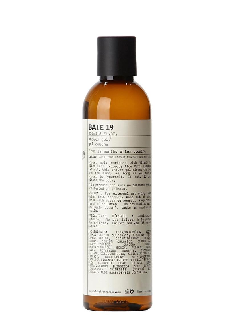 A large bottle of Le Labo Baie 19 shower gel