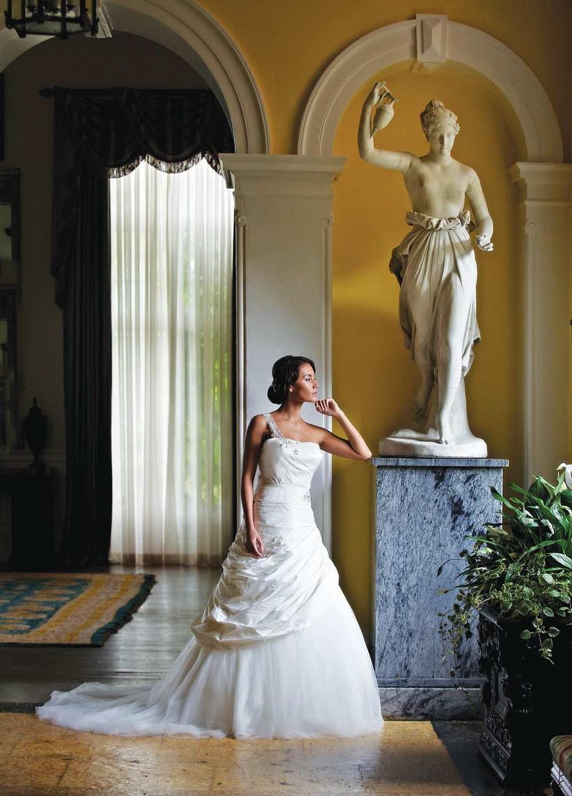 one-shoulder-ballgown-wedding-dress