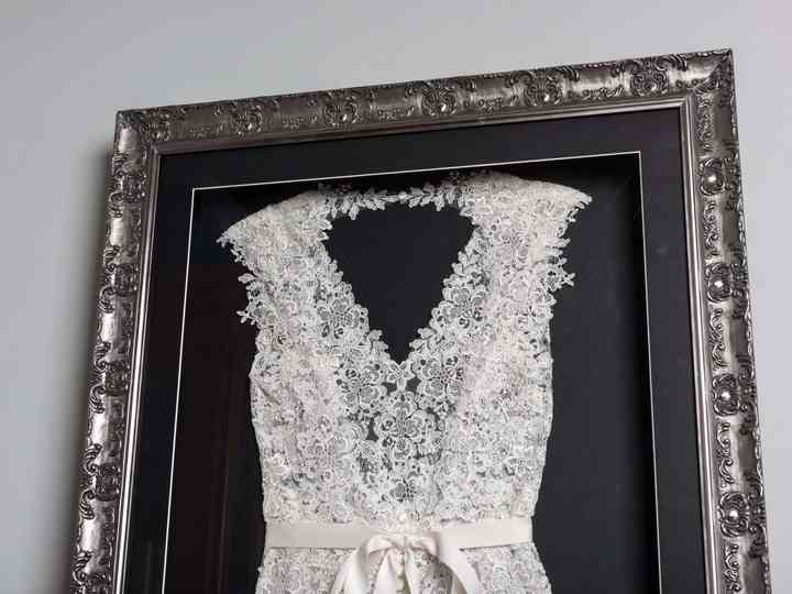 Wedding Dress Framing How To Frame Your Wedding Dress Hitched Co Uk