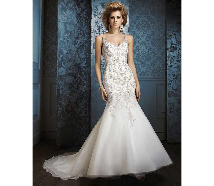 glamorous-fishtail-wedding-dress-by-alfred-angelo