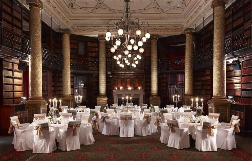 the-library-at-one-whitehall-place-decorated-for-a-wedding