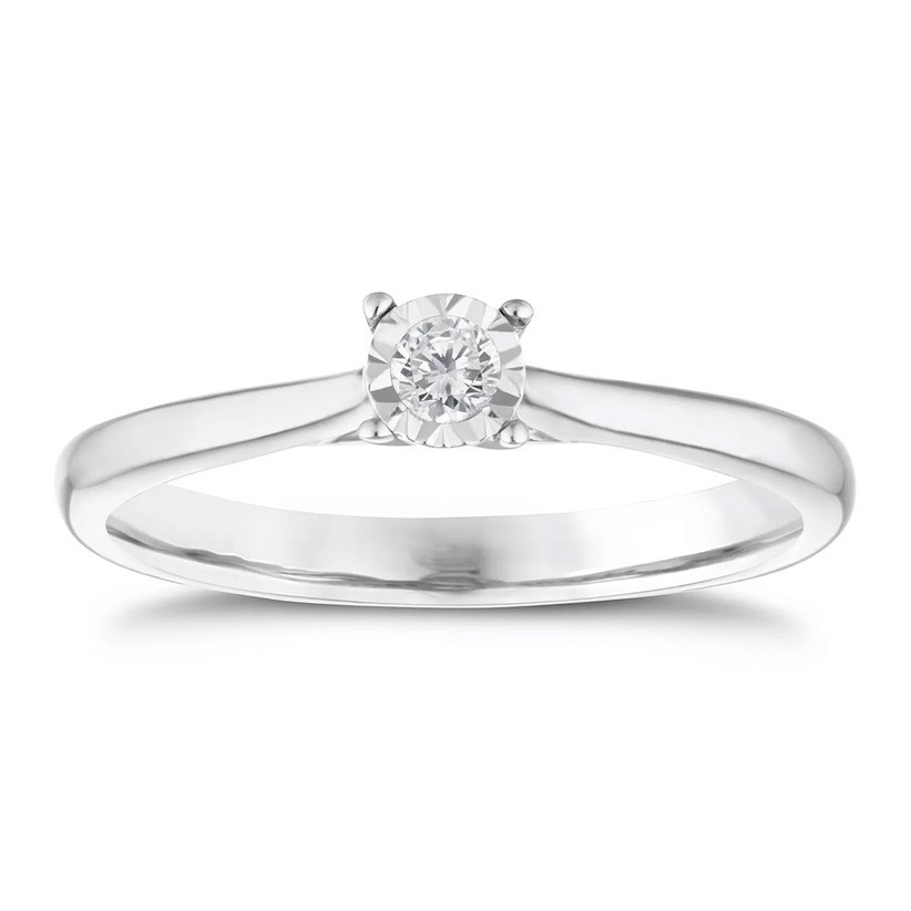 Cheap solitaire engagement ring