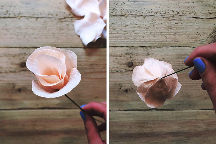 how-to-make-paper-wedding-flowers-step-five