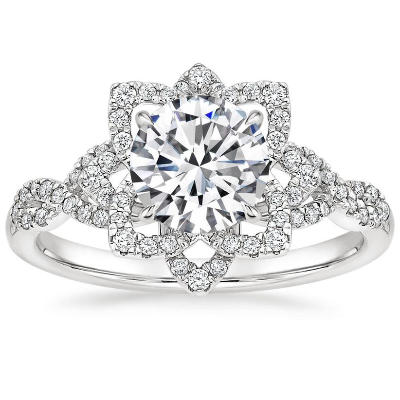 flower engagement rings
