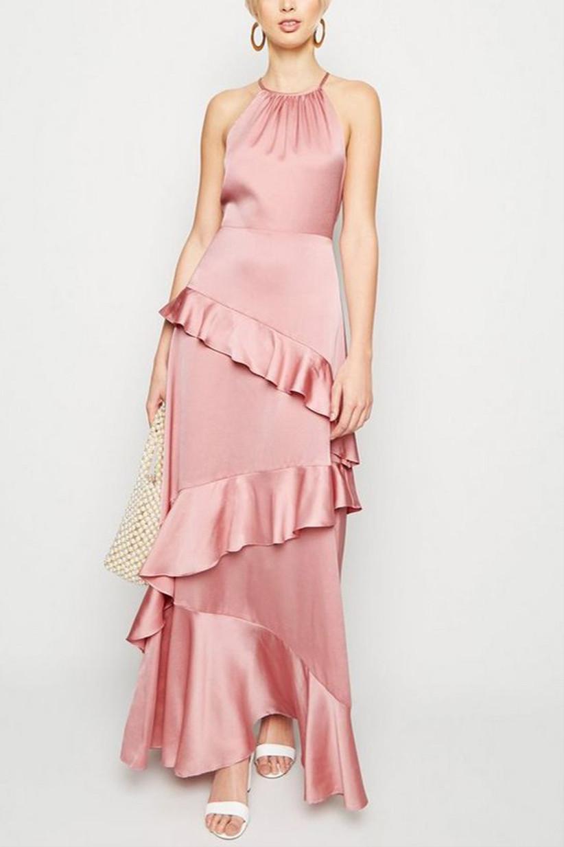 New-Look-mid-pink-satin-ruffle-trim-maxi-dress