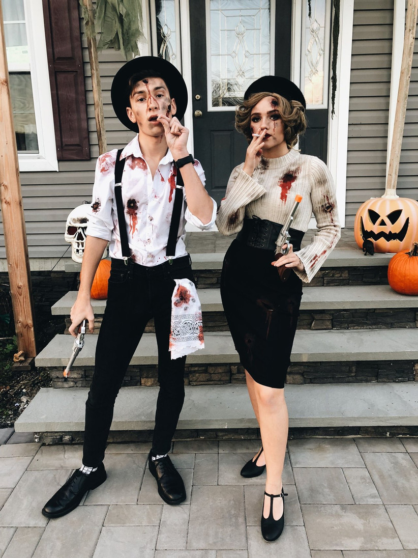 Couples Halloween Costumes Bonnie and Clyde