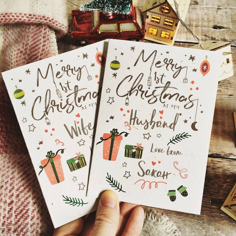 First christmas as mu husband card