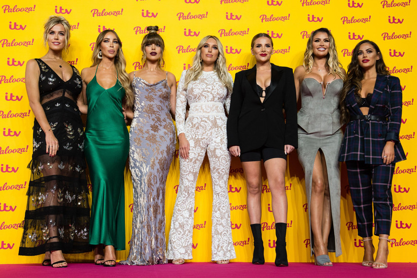 LONDON, ENGLAND - OCTOBER 16: (L-R) Chloe Meadows, Lauren Pope, Chloe Lewis, Amber Turner, Georgia Kousoulou, Chloe Simms and Courtney Green attend the ITV Palooza! held at The Royal Festival Hall on October 16, 2018 in London, England. (Photo by Jeff Spicer/WireImage)