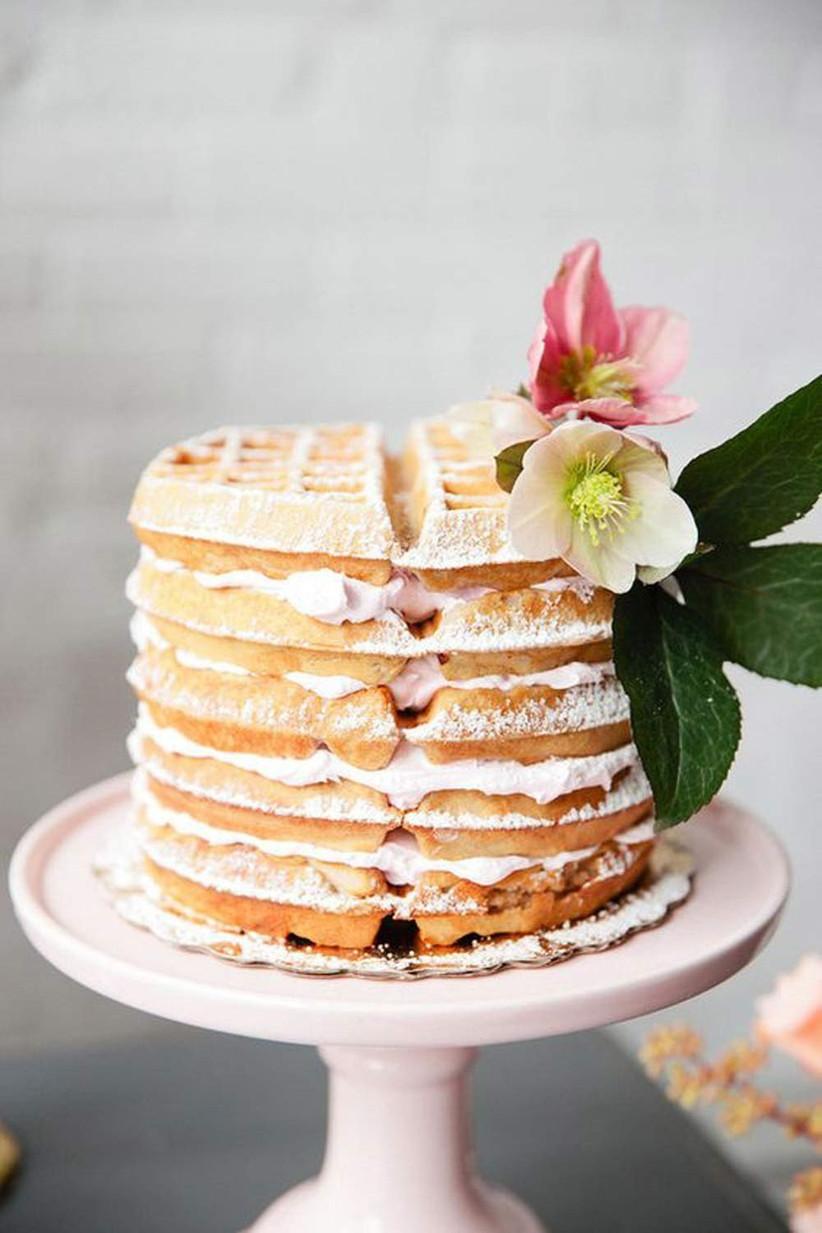 Waffle-cake