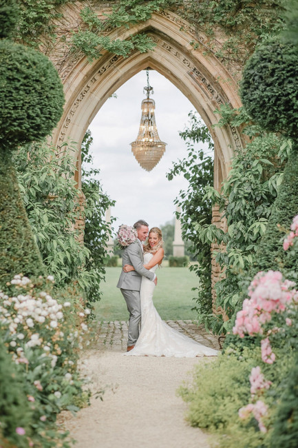 A Glamorous Secret Garden Party Wedding at The Lost Orangery with a Pronovias Gown