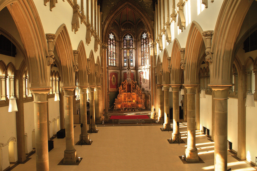 The Great Nave at Manchester wedding venue The Monastery