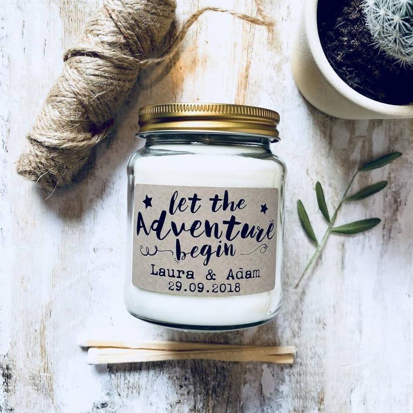 Personalised wedding candle