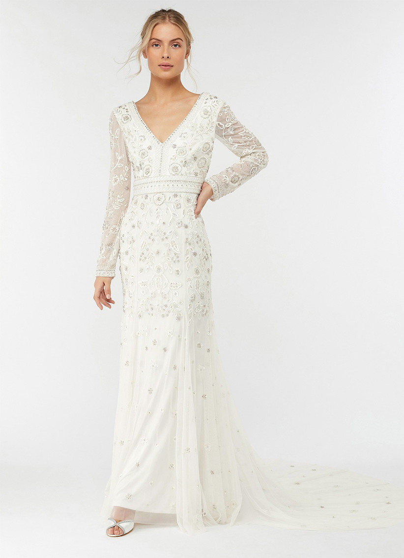 Long sleeve wedding dress from Monsoon