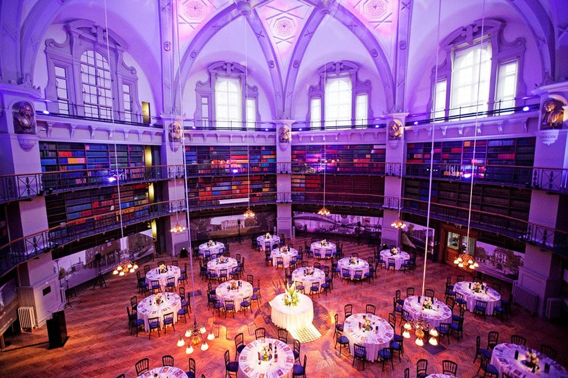 the-octagon-library-at-queen-mary-university-set-up-for-a-wedding