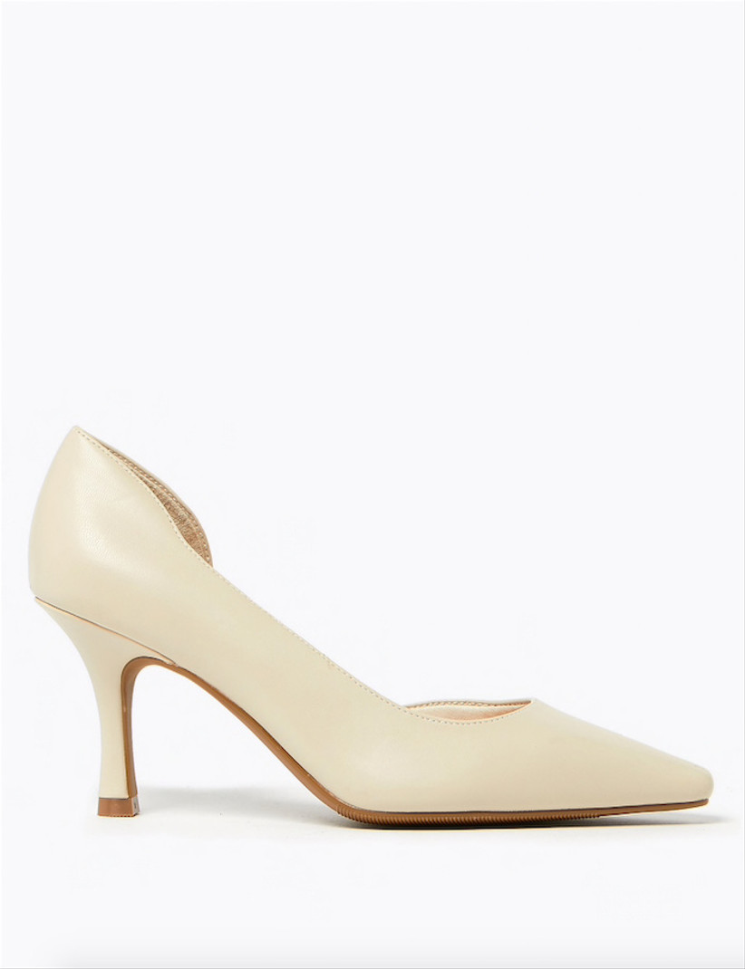 Marks & Spencer Kitten Heel Pointed Toe Court Shoes