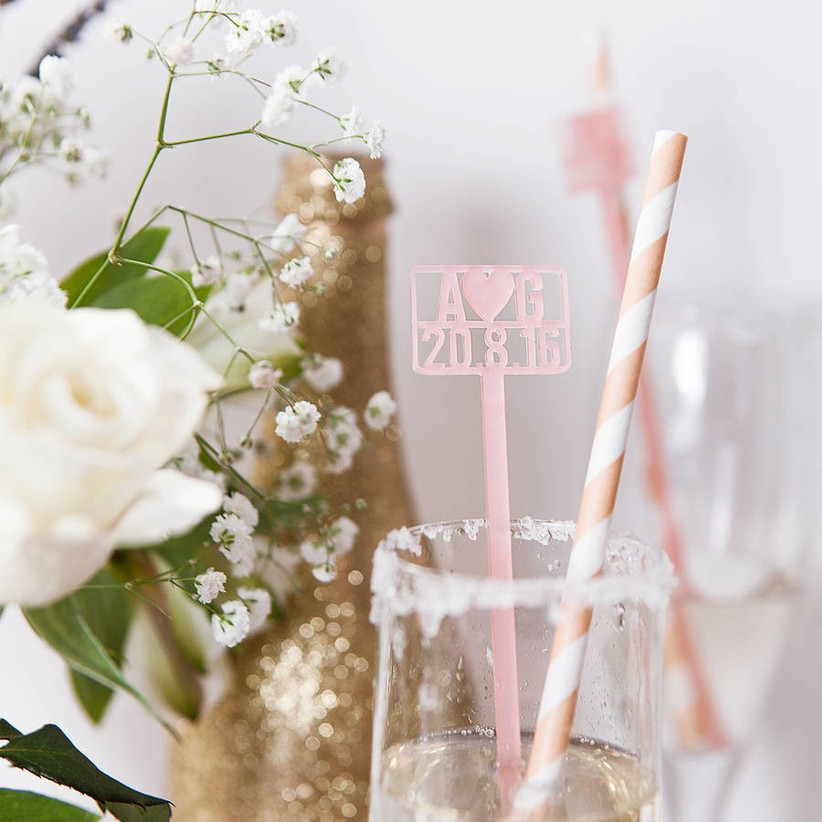 Save the date cocktail stirrers
