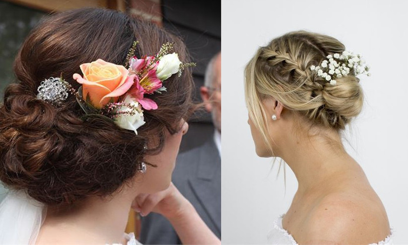 pretty-wedding-hair-flowers-that-have-been-styled-into-an-updos-the-perfect-look-for-a-spring-or-summer-wedding-2