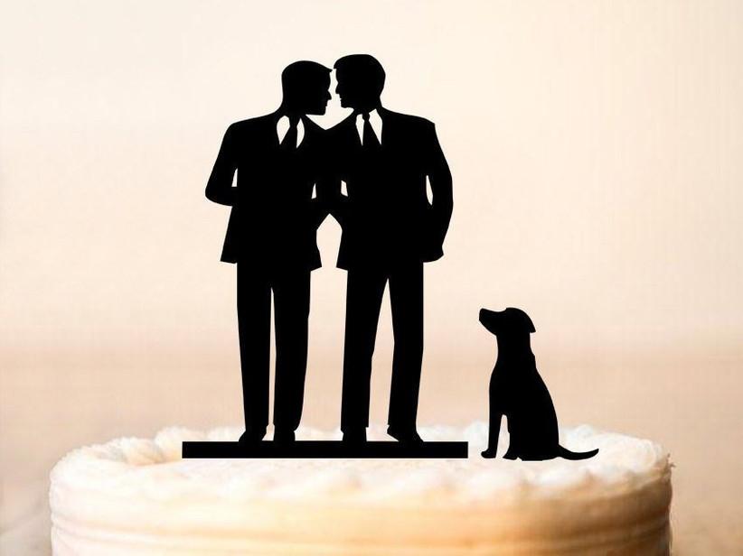Pet wedding cake toper