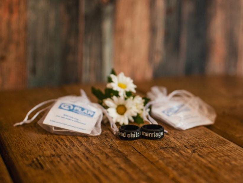 Charity Wedding Favours - Plan International rings