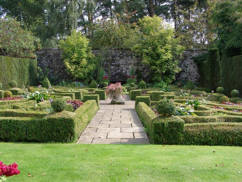 The walled garden at Glasgow wedding venue Greenbank Garden