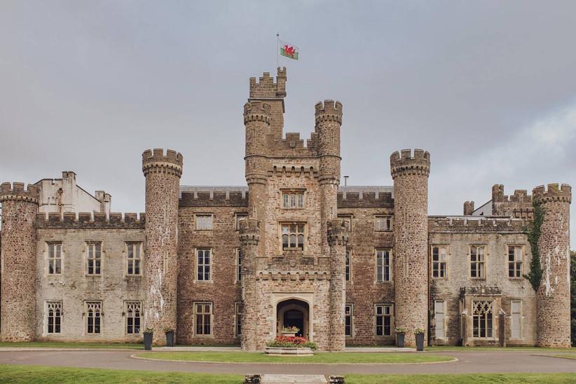 Outside of a castle