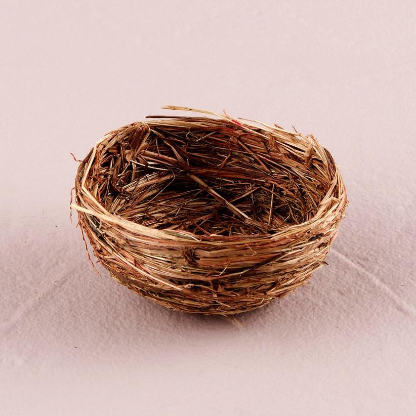 Mini birds nest wedding favour