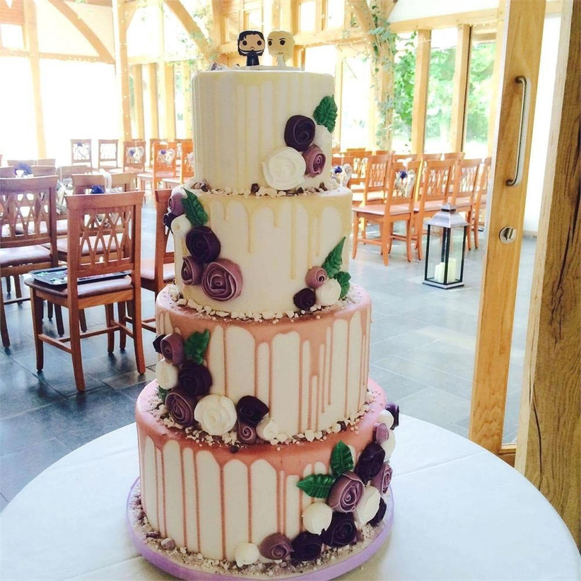 rose-gold-drip-wedding-cake