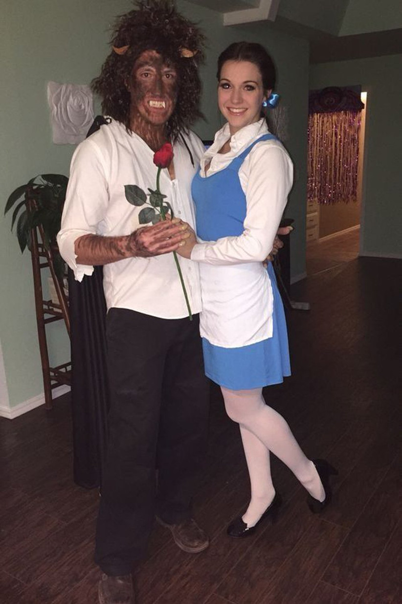 Couples-Halloween-Costumes-Belle-and-Beast
