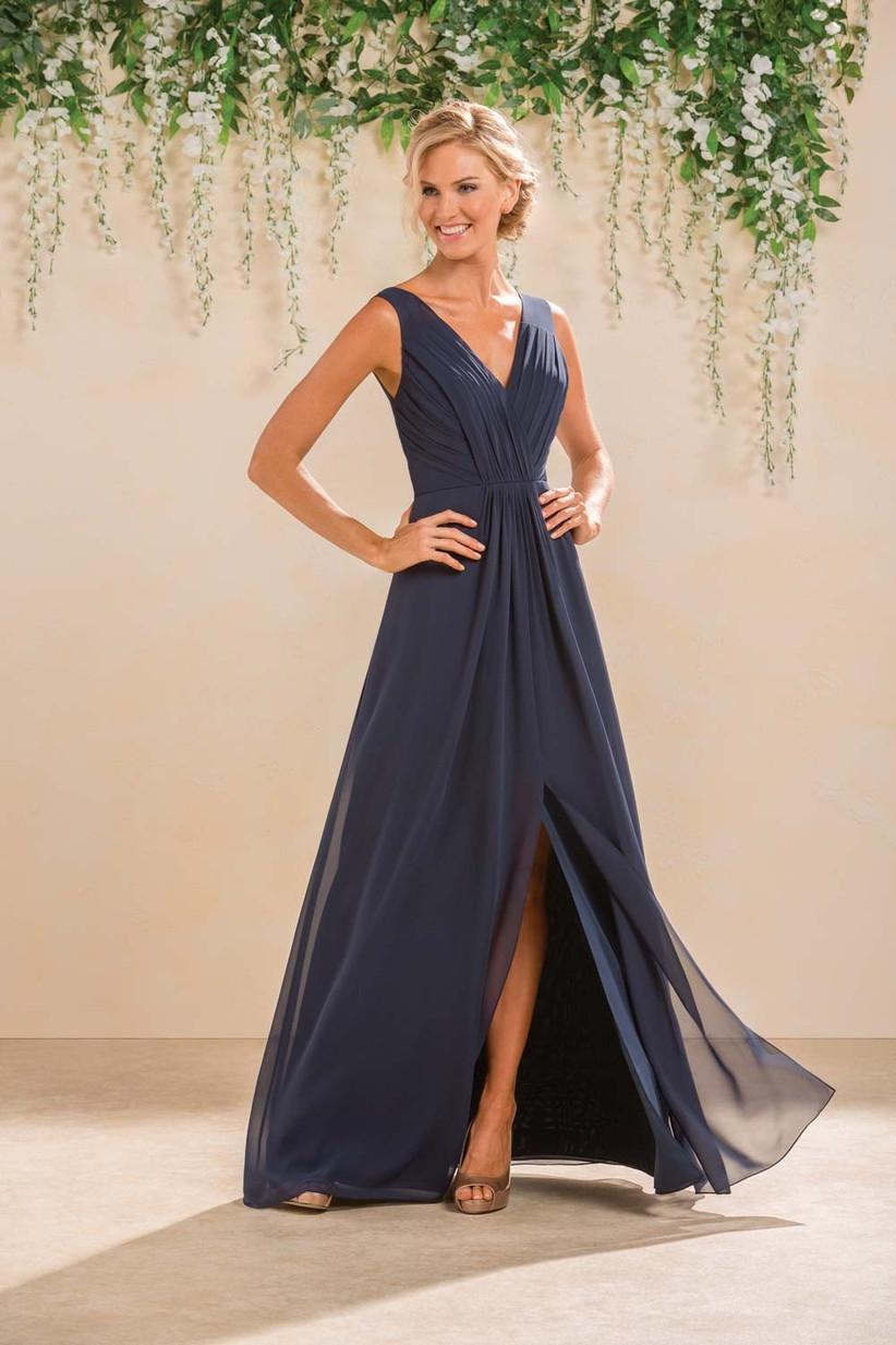 wedding navy blue bridesmaid dresses